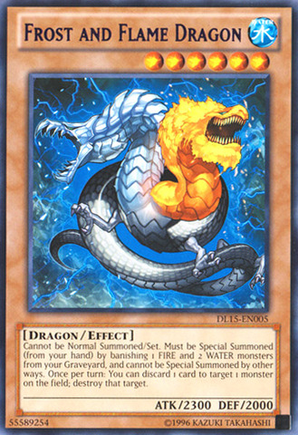 Frost and Flame Dragon - Purple - DL15-EN005 - Rare - Unlimited Edition