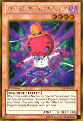 Gimmick Puppet Humpty Dumpty - PGLD-EN011 - Gold Secret Rare - 1st Edition on Channel Fireball