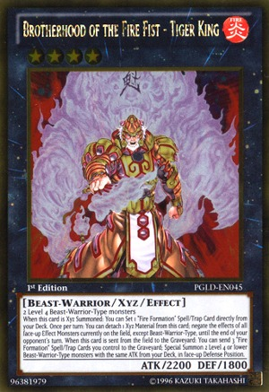 Brotherhood of the Fire Fist - Tiger King - PGLD-EN045 - Gold Rare - 1st Edition