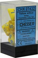 Vortex Yellow w/Blue 7 Dice Block - CHX27432