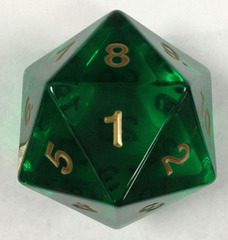 Jumbo Spindown D20 55mm Translucent Green