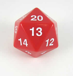 Jumbo Spindown D20 55mm Red