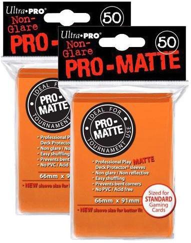 100ct Pro-Matte Orange Standard Deck Protectors