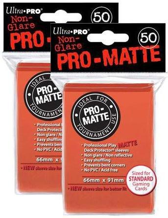 100ct Pro-Matte Peach Standard Deck Protectors