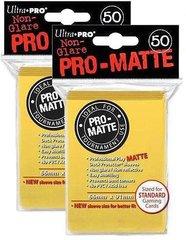 100ct Pro-Matte Yellow Standard Deck Protectors