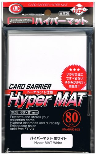 White Collection KMC Hyper Mat Mini Card Game Sleeves 60Ct US Version
