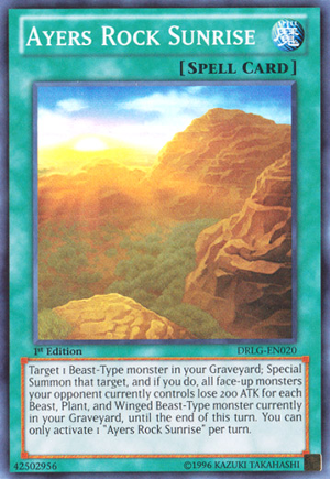 Ayers Rock Sunrise - DRLG-EN020 - Super Rare - 1st Edition