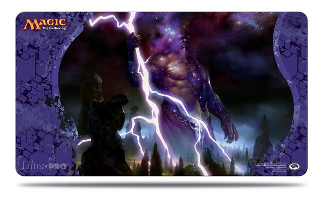 Journey into Nyx Keranos, God of Storms Playmat (MTG)