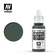 VAL70867 Vallejo Model Color Dark Blue Grey 17ml (165)