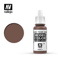 VAL70940 Vallejo Model Color Saddle Brown 17ml (138)