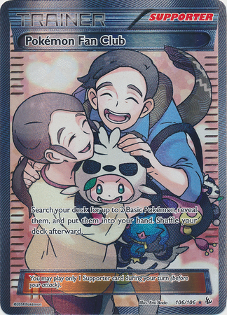 Pokemon Fan Club - 106/106 - Full Art Ultra Rare