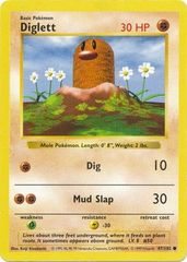 Diglett - 47/102 - Common - Shadowless Edition