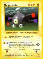 Magnemite - 53/102 - Common - Shadowless Edition on Channel Fireball