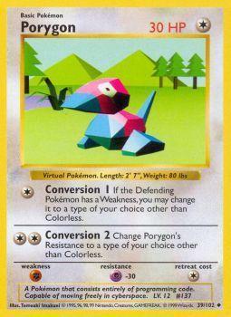 Porygon - 39/102 - Uncommon - Shadowless Edition