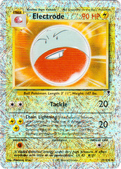Electrode - 22/110 - Rare - Reverse Holo on Channel Fireball