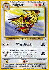 Pidgeot - 33/110 - Rare - Reverse Holo on Channel Fireball