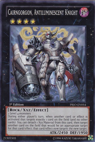 Cairngorgon, Antiluminescent Knight - PRIO-EN054 - Super Rare - 1st Edition