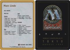 Decklist - Matt Linde - 1999
