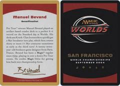Biography - Manuel Bevand - 2004