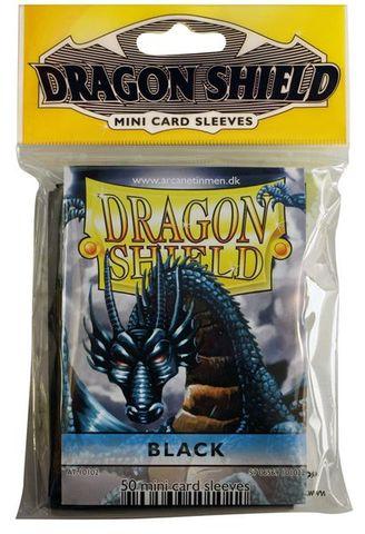 Dragon Shield Mini Card Sleeves (50 ct) - Black