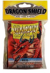 Dragon Shield Mini Card Sleeves (50 ct) - Red