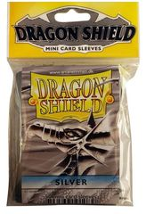 Dragon Shield Mini Card Sleeves (50 ct) - Silver