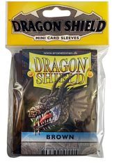 Dragon Shield Mini Card Sleeves (50 ct) - Brown