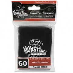 Monster Gloss Logo Small Sleeves (60ct) - Black