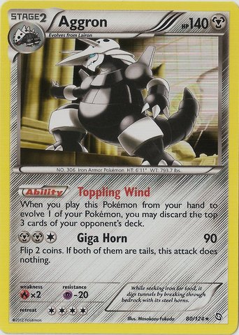 Aggron - 80/124 - Cosmos Holo Legendary Treasures Blisters Exclusive