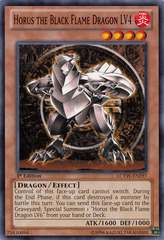 Horus the Black Flame Dragon LV4 - LCYW-EN197 - Common - Unlimited Edition