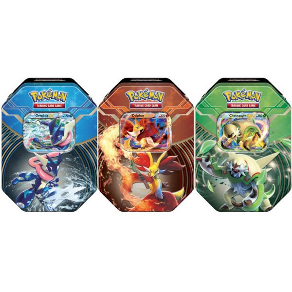Pokemon 2014 Kalos Power Tins: Set of 3