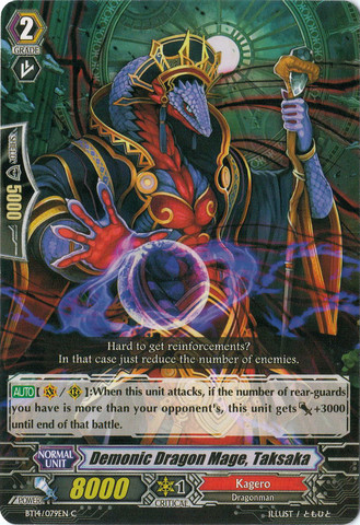 Demonic Dragon Mage, Taksaka - BT14/079EN - C