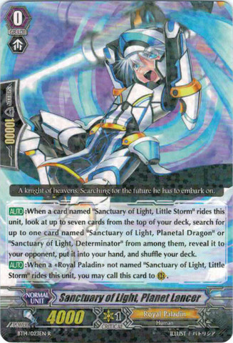 Sanctuary of Light, Planet Lancer - BT14/023EN - R
