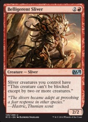 Belligerent Sliver - Foil on Channel Fireball
