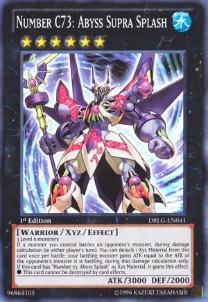Number C73: Abyss Supra Splash - DRLG-EN041 - Super Rare - Unlimited Edition
