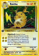 Raichu - 14/62 - Holo Rare - 1999-2000 Wizards Base Set Copyright