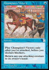 Champion's Victory on Channel Fireball