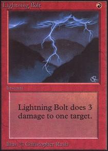 Lightning Bolt (Not Tournament Legal)