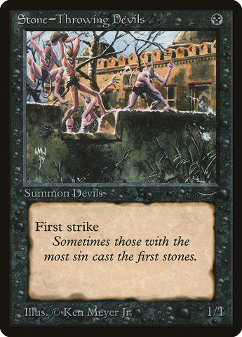 Stone-Throwing Devils (Light)