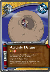 Absolute Defense - J-414 - Uncommon - 1st Edition