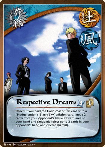 Respective Dreams - M-495 - Common - 1st Edition
