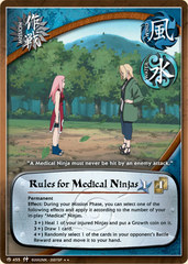 Rules for Medical Ninjas - M-455 - Rare - 1st Edition