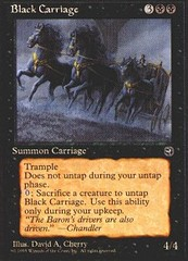 Black Carriage on Channel Fireball