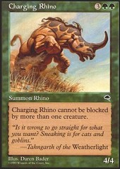 Charging Rhino on Channel Fireball