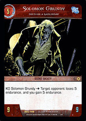Solomon Grundy, Died on a Saturday