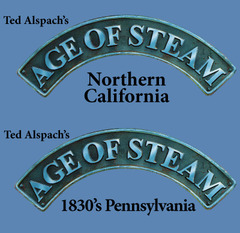 Age of Steam Expansion: 1830's Pennsylvania / Northern California