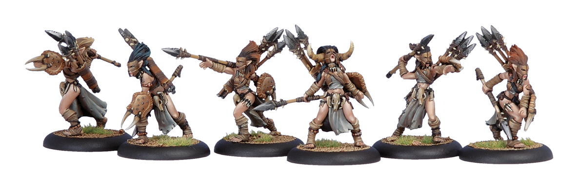 Circle Orboros Cucina Tharn Wolf Riders Light Cavalry Unit Box by Privateer Press Miniatures Giochi d'imitazione