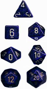 Speckled Golden Cobalt 7 Dice Set - CHX25337