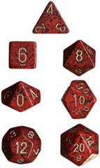 Golden Strawberry Speckled 7 Dice Set - CHX25334