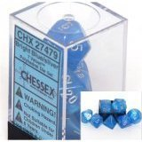Velvet Blue / Silver 7 Dice Set - CHX27476